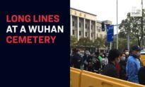 Long Lines in a Wuhan Cemetery