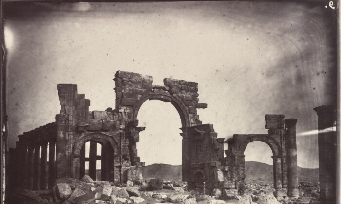 Monumental Arch, 1864, by Louis Vignes. Albumen print. (The Getty Research Institute)