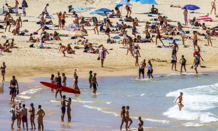 A general view of Bondi Beach is seen in Sydney, Australia on March 20, 2020. (Jenny Evans/Getty Images)