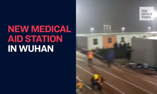 Chinese Authorities Constructed a Large Medical Aid Station in Wuhan