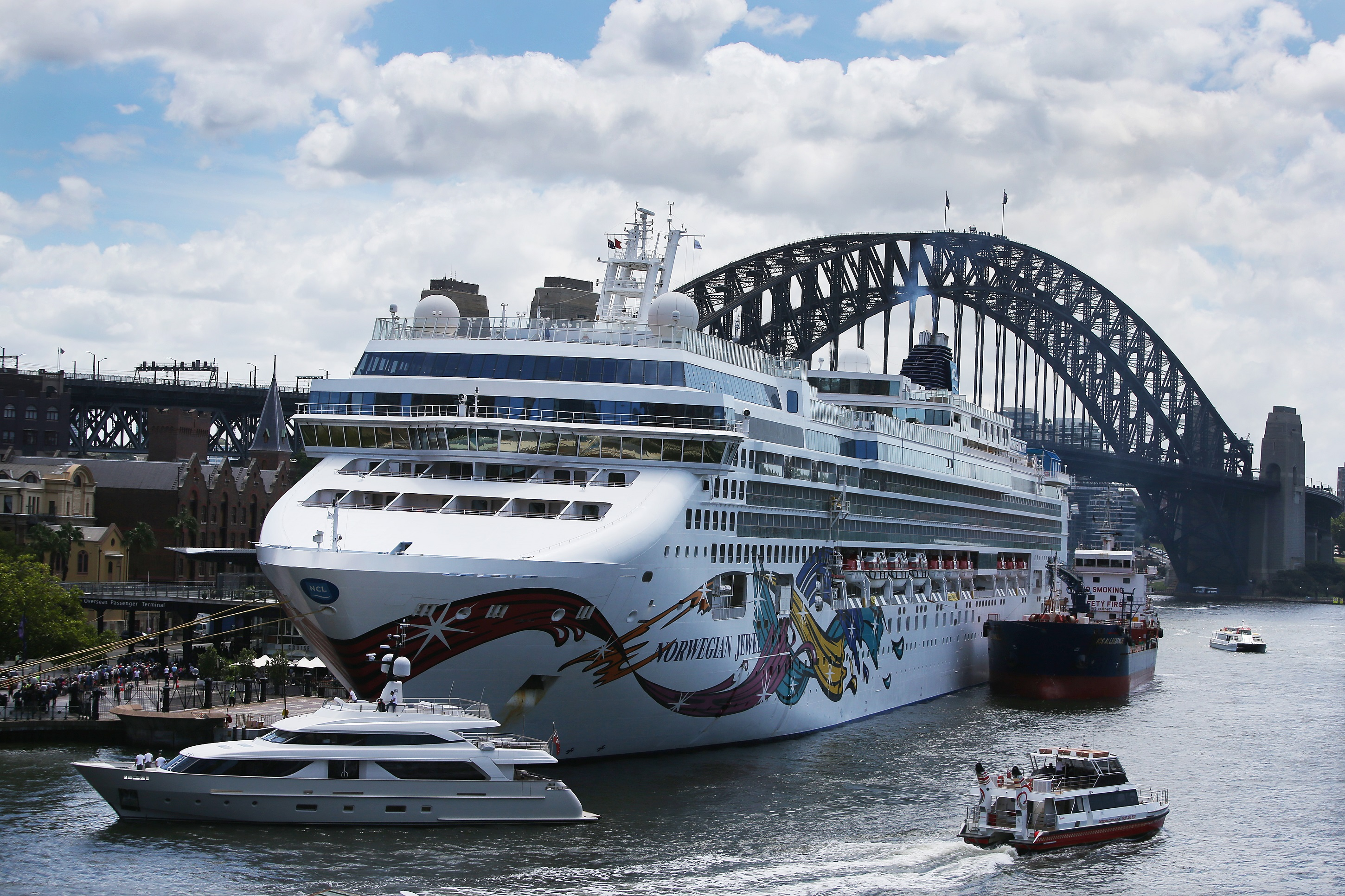 The Norwegian Jewel cruise ship is in lock down while health authorities test a man for Coronavirus in Sydney,