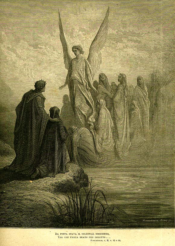 Illustration for Dante's purgatory by Dore