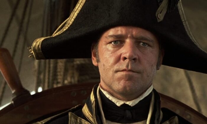 """Russell Crowe as Capt. Jack Aubrey gives a master class in effective leadership in """"Master and Commander: The Far Side of the World."""" (Twentieth Century Fox)"""