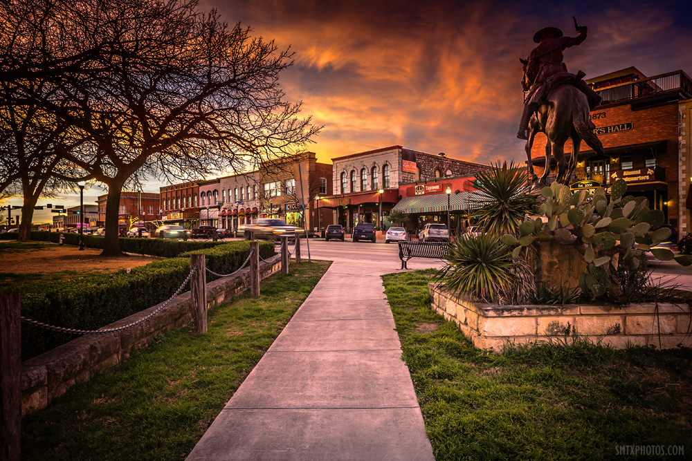 Sunset-Over-Downtown-San-Marcos-TX