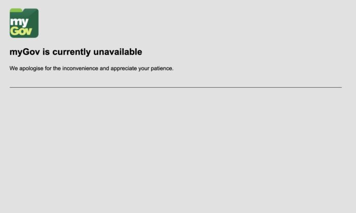 Australia's 'MyGov' online portal for government services crashes amid COVID-19 pandemic. (Screenshot)
