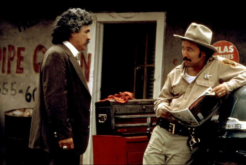 mayor and sheriff talking in 'The Milagro Beanfield War'