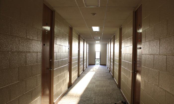 A dorm hallway at a university in a file photo. (Illustration/Shutterstock)