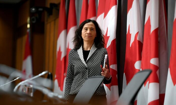 Chief Public Health Officer of Canada Dr. Theresa Tam arrives for a press conference on COVID-19 at West Block on Parliament Hill in Ottawa, on Tuesday, March 24, 2020. (Justin Tang/The Canadian Press)