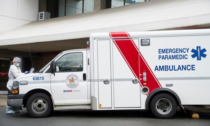 An ambulance is seen in a stock photo. (Jonathan Hayward/The Canadian Press)