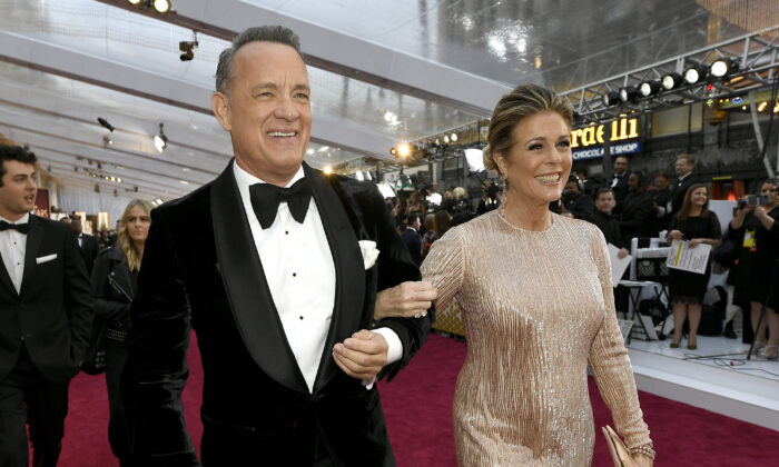 (L-R) Tom Hanks and Rita Wilson attend the 92nd Annual Academy Awards at Hollywood and Highland on Feb. 09, 2020 in Hollywood, Calif. (Kevork Djansezian/Getty Images)