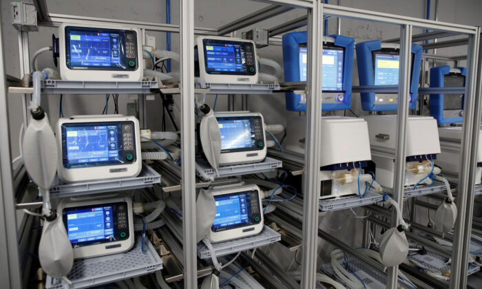 Ventilators of Hamilton Medical AG at a plant in Domat/Ems, Switzerland, on March 18, 2020. (Reuters/Arnd Wiegmann/File Photo)