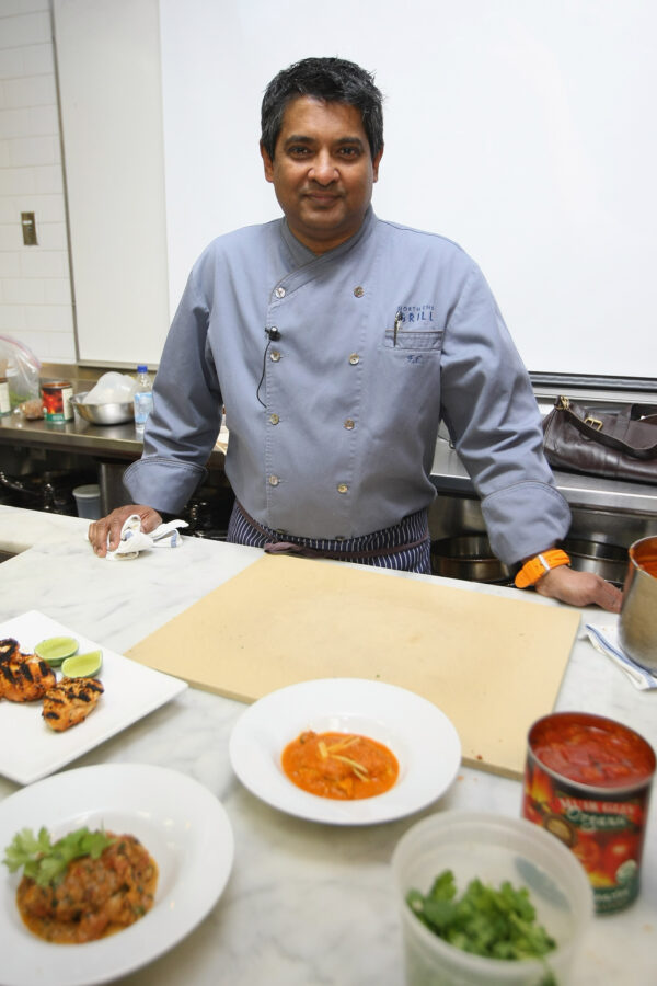 Chef Floyd Cardoz attends The New York Culinary Experience