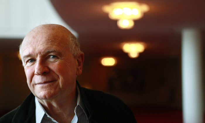Playwright Terrence McNally poses at the Kennedy Center in Washington, on April 1, 2010. (Jacquelyn Martin/AP Photo)