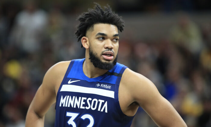 Karl Anthony-Towns in a file photograph. (Andy Lyons/Getty Images)