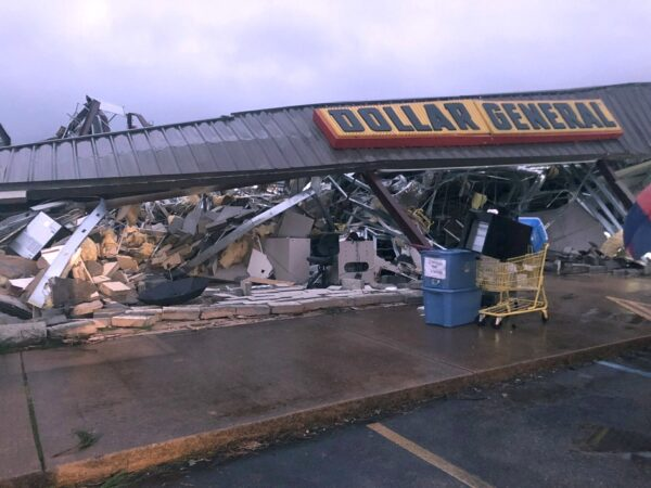 A Dollar General store destroyed