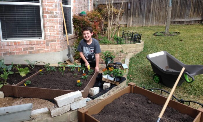 Ian McKenna tends to his garden. (Courtesy of Ian McKenna)