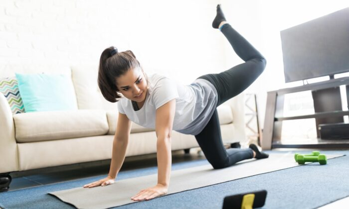 Body-weight exercises can be very effective, especially with slower movement and higher repetitions. (antoniodiaz/Shutterstock)