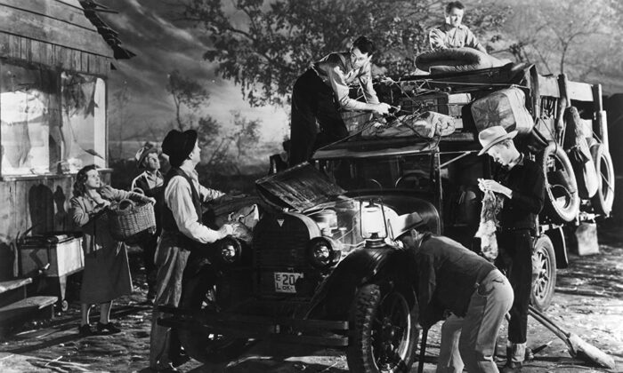 "John Steinbeck's ""The Grapes of Wrath,"" released as a film in 1940, documented another tough period in American History: the Dust Bowl, when families were forced to uproot themselves and migrate from the heartland. (Twentieth Century Fox)"