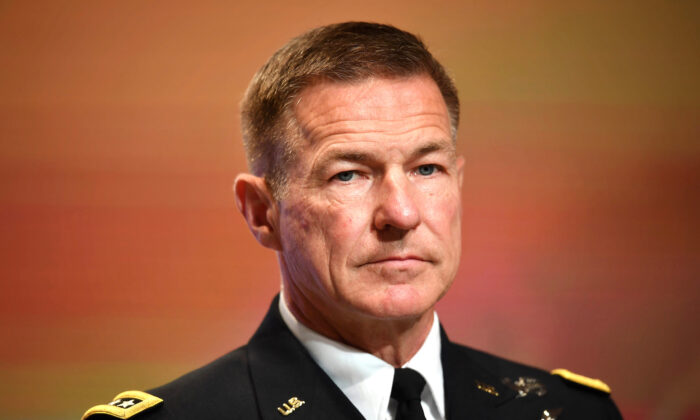 U.S. Army Chief of Staff General James McConville in Bangkok, Thailand, on Sept. 9, 2019. (Lillian Suwanrumpha/ AFP via Getty Images)
