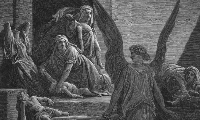 A detail from an 1866 illustration of the 10th plague—the killing of all firstborn sons in Egypt—by Gustave Doré (1832–1883). (Hulton Archive/Getty Images)