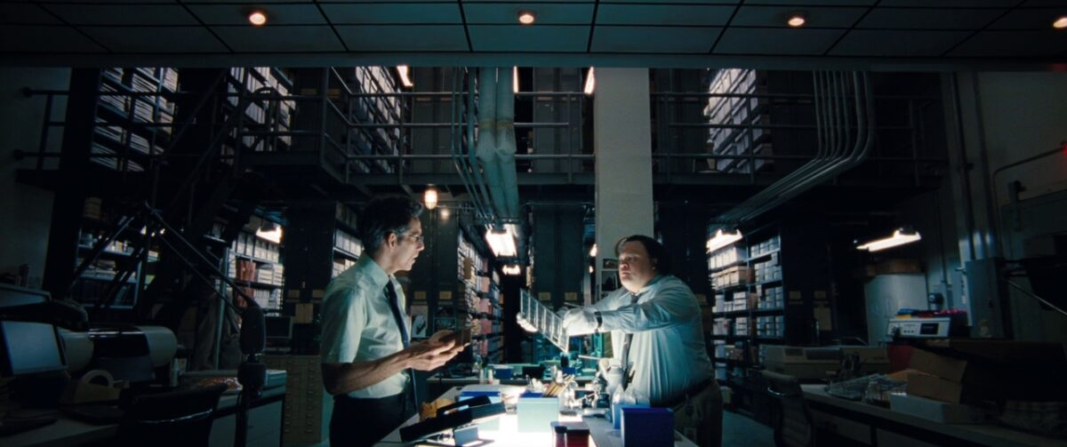 """two men in photo lab in """"The Secret Life of Walter Mitty"""""""