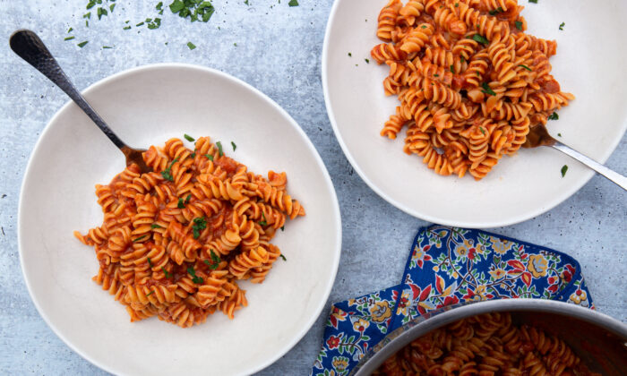 This is one-pot pasta at its simplest. (Caroline Chambers)