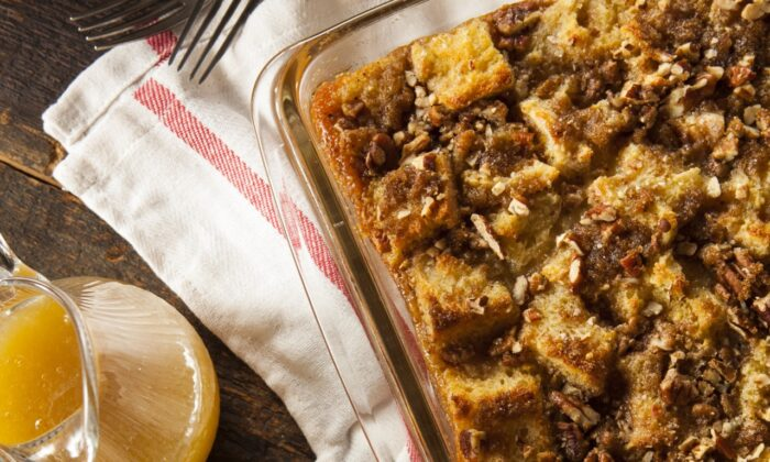 Bread puddings run the gamut from simple and homey to over-the-top decadent. (Brent Hofacker/Shutterstock)
