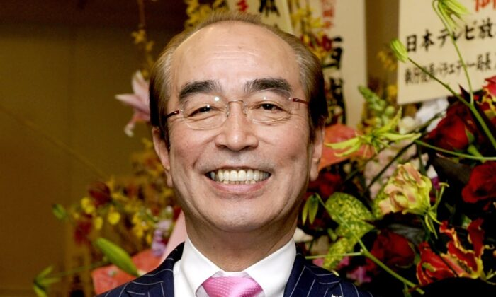Japanese comedian Ken Shimura in Tokyo on March 1, 2011. (Kyodo News via AP)