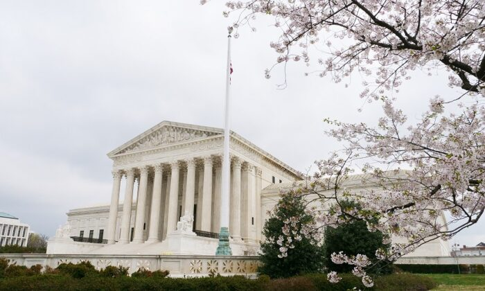 The Supreme Court building in Washington on March 26, 2020. (Juliet Wei/Sound of Hope)