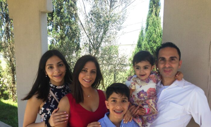 Charbel Boujaoude (R) with his family in 2019. (Courtesy of Charbel Boujaoude)