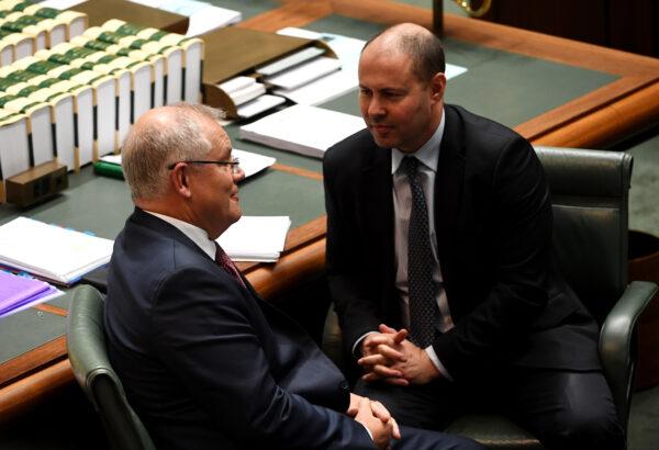 Australian Prime Minister Scott Morrison and Finance Minister Josh Frydenberg