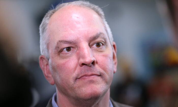 New Orleans Gov. John Bel Edwards, seen in a file photograph, is warning of a projected shortfall in ventilators. (Jonathan Bachman/Getty Images)