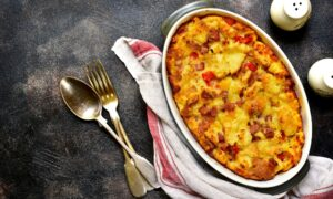 Savory Sausage and Cheese Bread Pudding