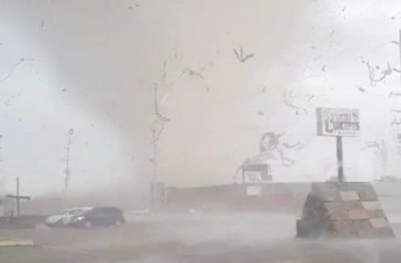 Cell phone video shows a tornado tearing through Jonesboro, Ark. (Said Said/Triple S Phones)