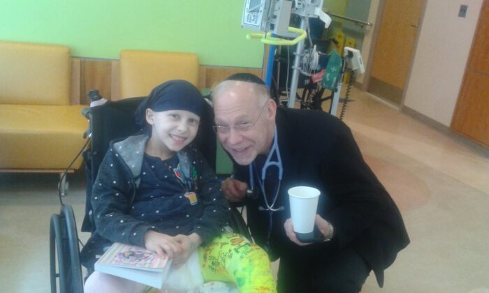 Elana Koenig with Dr. Wexler during her period of cancer treatment. (Courtesy of Rena Koenig)
