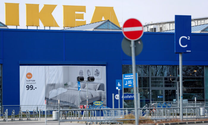 An IKEA store is pictured after nationwide all IKEA stores were closed during the spread of the CCP virus disease (COVID-19) in Berlin, Germany, on March 17, 2020.   (Fabrizio Bensch/File Photo/Reuters)