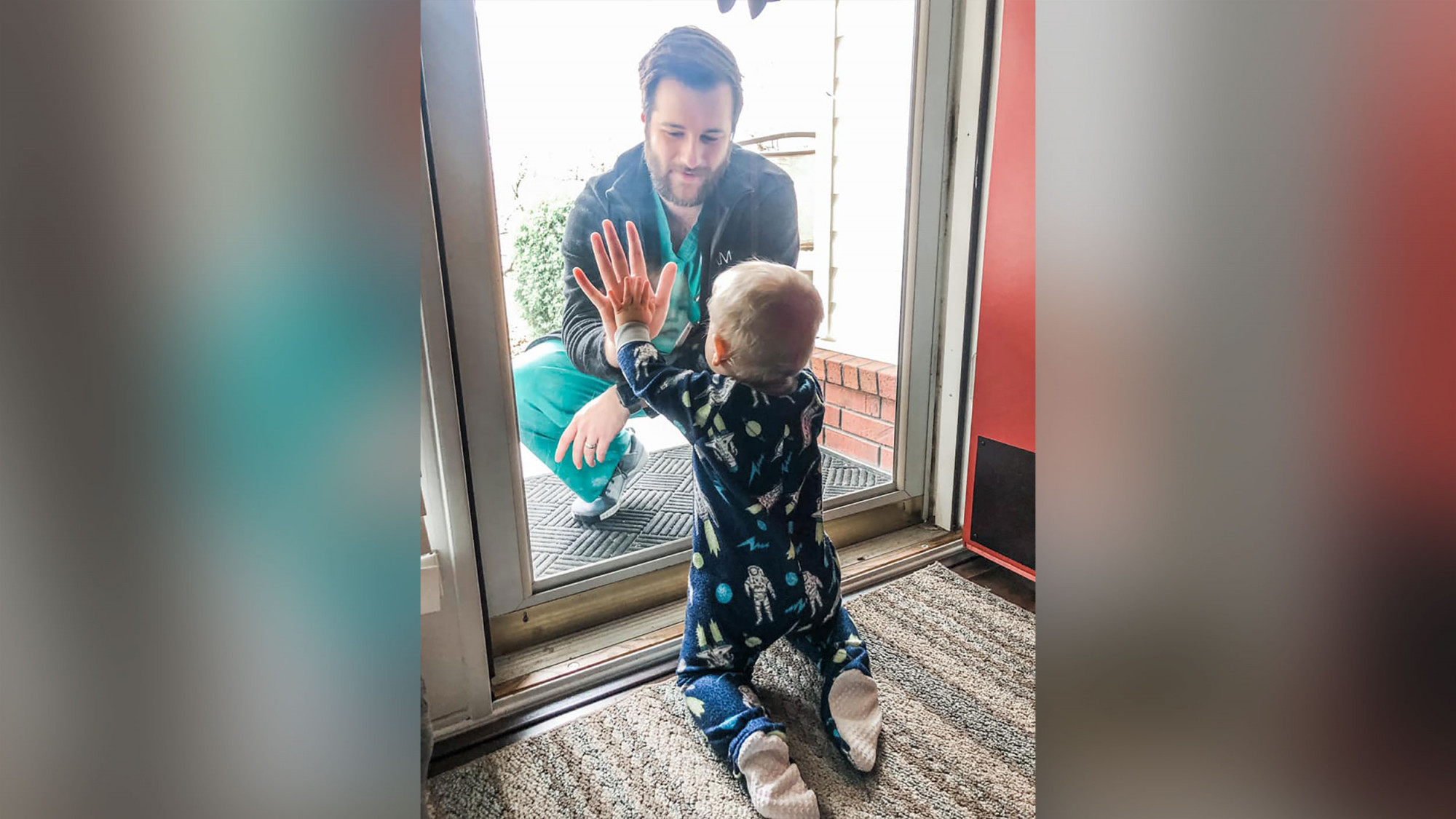 Dr. Jared Burks sees his 1-year-old son