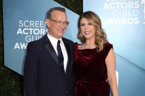 Tom Hanks (L) and Rita Wilson attend 26th Annual Screen