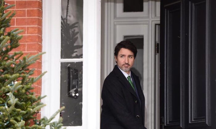Prime Minister Justin Trudeau arrives to address Canadians on the COVID-19 pandemic from Rideau Cottage in Ottawa on Tuesday, March 31, 2020. (Sean Kilpatrick/The Canadian Press)