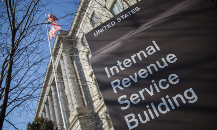 The Internal Revenue Service (IRS) building is seen in Washington on Feb. 19, 2014. (Jim Watson/AFP/Getty Images)