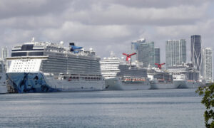 Ill-Fated Cruise Ships Awaiting Approval to Dock in Florida
