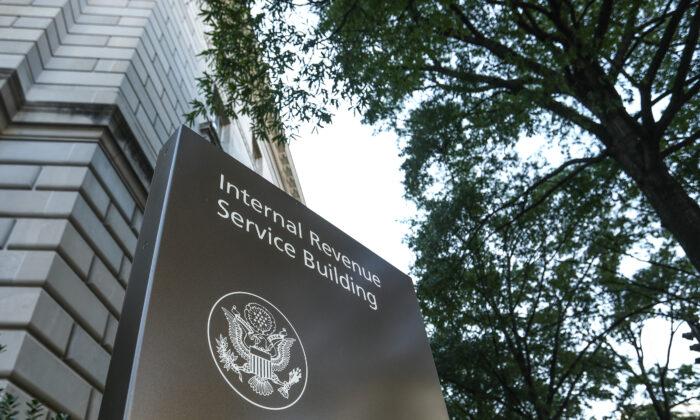 The Internal Revenue Service headquarters building in Washington on Sept. 19, 2018. (Samira Bouaou/The Epoch Times)