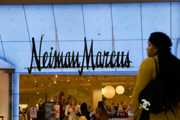 Shoppers enter and exit the Neiman Marcus at the King of Prussia Mall, United States' largest retail shopping space