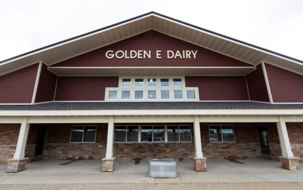 The milking parlor at the Eble family's Golden E Dairy farm near West Bend, Wisconsin, U.S.,