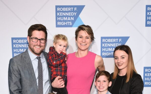 David McKean, Maeve Kennedy Townsend Mckean and family attend the Robert F. Kennedy Human Rights Hosts 2019