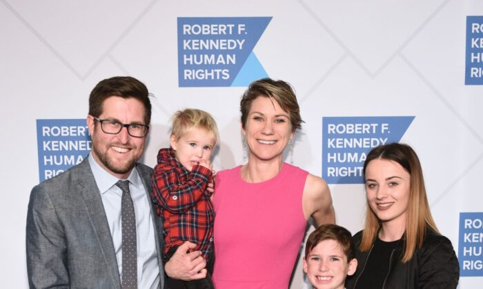 David McKean, Maeve Kennedy Townsend Mckean and family attend the Robert F. Kennedy Human Rights Hosts 2019 Ripple Of Hope Gala & Auction In NYC in New York City on Dec. 12, 2019. (Mike Pont/Getty Images for Robert F. Kennedy Human Rights)