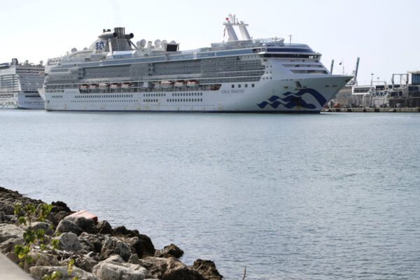 The Coral Princess cruise ship arrives at PortMiami during the new coronavirus outbreak,