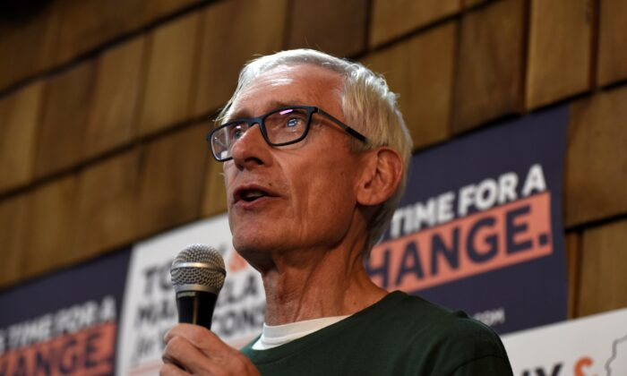 Democratic gubernatorial candidate Tony Evers speaks to supporters at a campaign event in Milwaukee, Wisconsin on Nov. 4, 2018. (Nick Oxford/File Photo/Reuters)