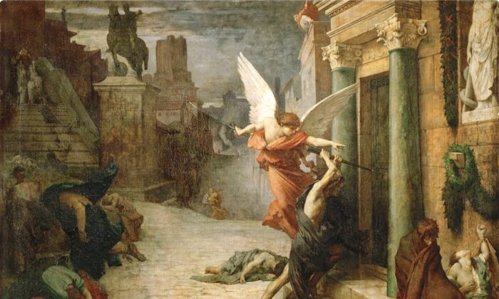 """The Plague of Rome"" by Jules Elie Delauney."
