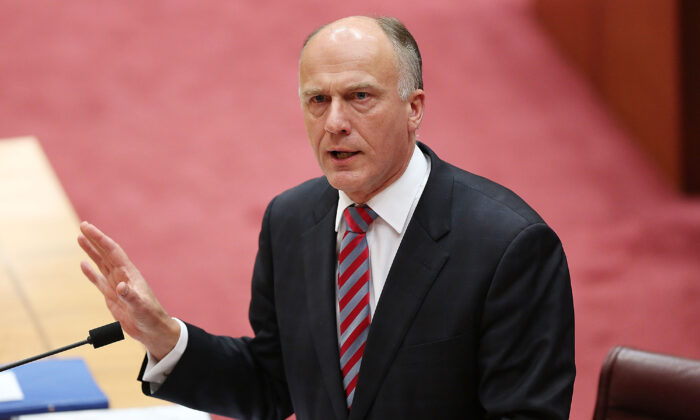 Senator Eric Abetz during Senate question time on July 7, 2014 in Canberra, Australia. (Stefan Postles/Getty Images)